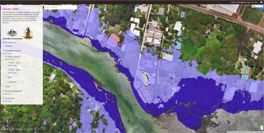 Mapping sea level rise to support adaptation